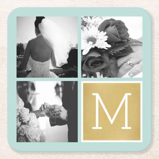 Create Your Own Wedding Photo Collage Monogram Square