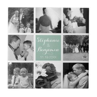 Create Your Own Wedding Photo Collage Monogram Tile