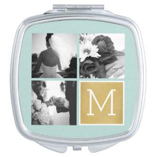 Create Your Own Wedding Photo Collage Monogram Vanity Mirror