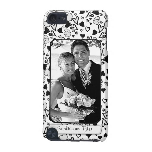 Create Your Own Wedding Photo Doodle Hearts iPod Touch (5th Generation) Cover
