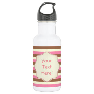 Create Your Own - Whimsical Neapolitan Stripes 532 Ml Water Bottle