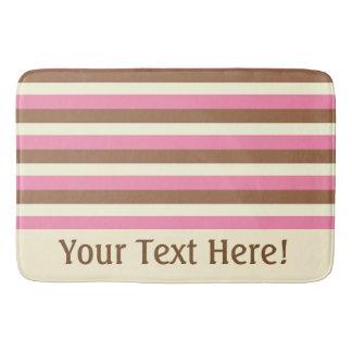 Create Your Own - Whimsical Neapolitan Stripes Bath Mat