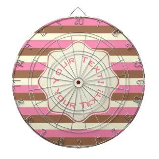Create Your Own - Whimsical Neapolitan Stripes Dartboard