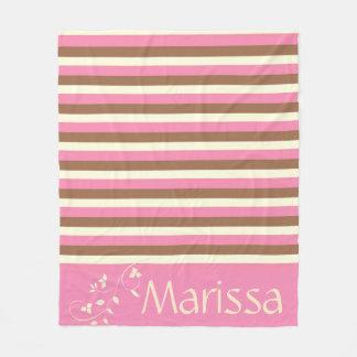 Create Your Own - Whimsical Neapolitan Stripes Fleece Blanket