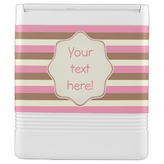 Create Your Own - Whimsical Neapolitan Stripes Igloo Cool Box