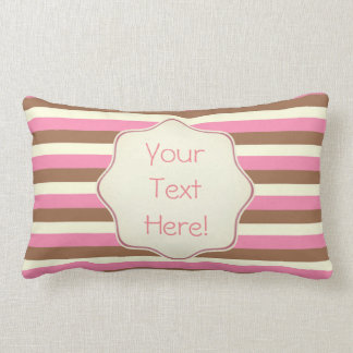 Create Your Own - Whimsical Neapolitan Stripes Lumbar Cushion