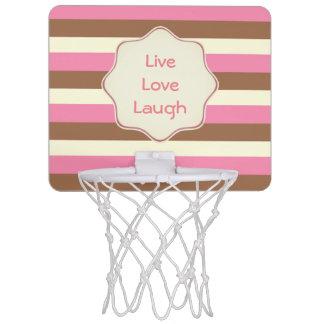 Create Your Own - Whimsical Neapolitan Stripes Mini Basketball Hoop