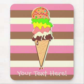 Create Your Own - Whimsical Neapolitan Stripes Mouse Pad