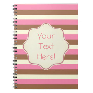 Create Your Own - Whimsical Neapolitan Stripes Notebooks