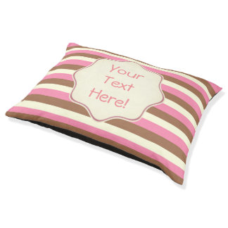 Create Your Own - Whimsical Neapolitan Stripes Pet Bed