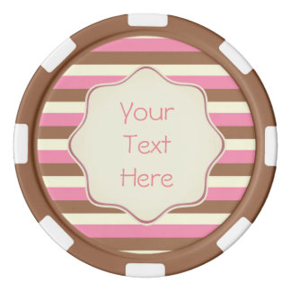 Create Your Own - Whimsical Neapolitan Stripes Poker Chips