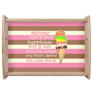 Create Your Own - Whimsical Neapolitan Stripes Serving Tray
