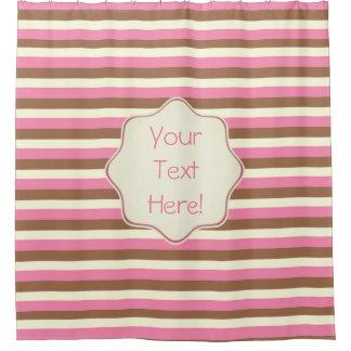 Create Your Own - Whimsical Neapolitan Stripes Shower Curtain