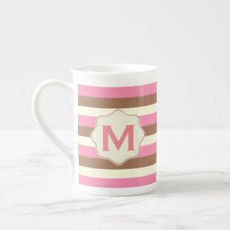 Create Your Own - Whimsical Neapolitan Stripes Tea Cup