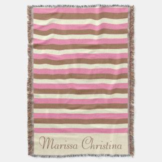 Create Your Own - Whimsical Neapolitan Stripes Throw Blanket