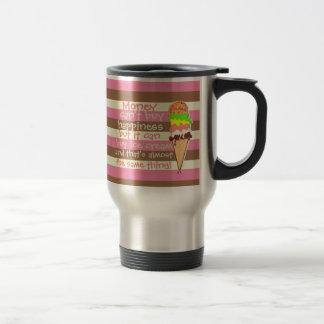 Create Your Own - Whimsical Neapolitan Stripes Travel Mug
