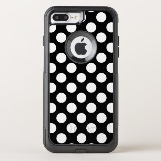 Create Your Own White Polka Dot Pattern OtterBox Commuter iPhone 8 Plus/7 Plus Case