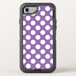 Create Your Own White Polka Dot Pattern OtterBox Defender iPhone 8/7 Case
