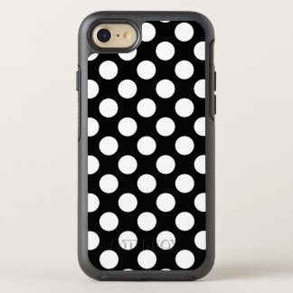 Create Your Own White Polka Dot Pattern OtterBox Symmetry iPhone 7 Case