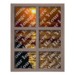 Create Your Own Window With Bleached Brown Frame Print