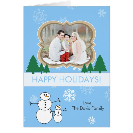 Create Your Own Winter Scene Photo Holiday Card