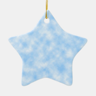 Created Blue and White Clouds Design Christmas Ornament