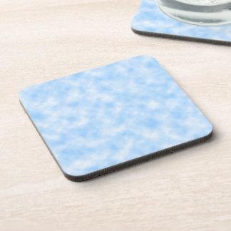 Created Blue & White Clouds Design Coaster