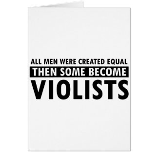 Created equally violists design cards