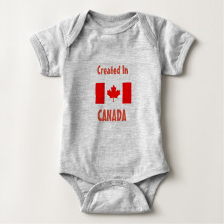 Created in Canada - Baby One Piece Baby Bodysuit