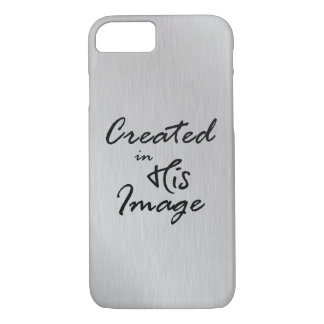 Created in His Image Christian Quote iPhone 8/7 Case