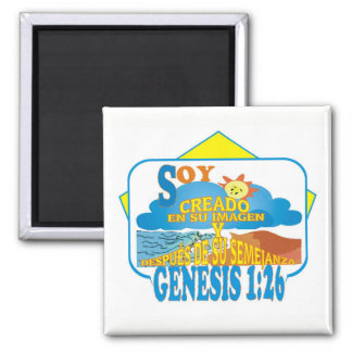 Created in Their Image Esp Square Magnet