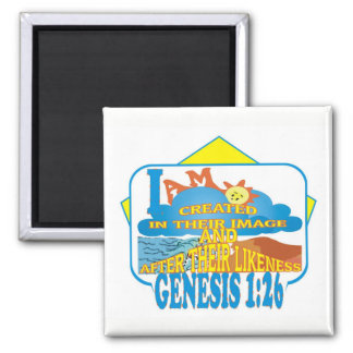 Created in Their Image Espng Square Magnet