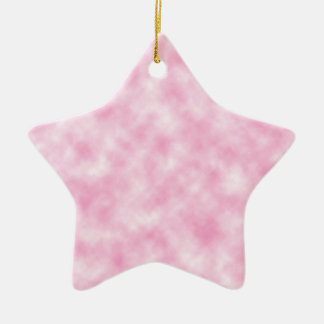 Created Pink Clouds Design on Star Shape Ceramic Star Decoration