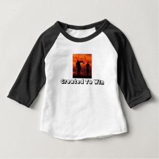 CREATED TO WIN Baby shirt