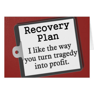 Creating a disaster recovery plan note card