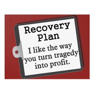 Creating a disaster recovery plan postcard