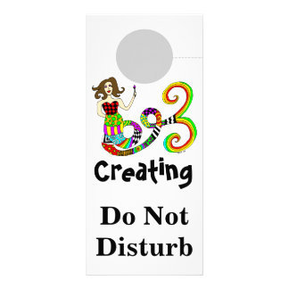 Creating Do Not Disturb Mermaid Muse Rack Card