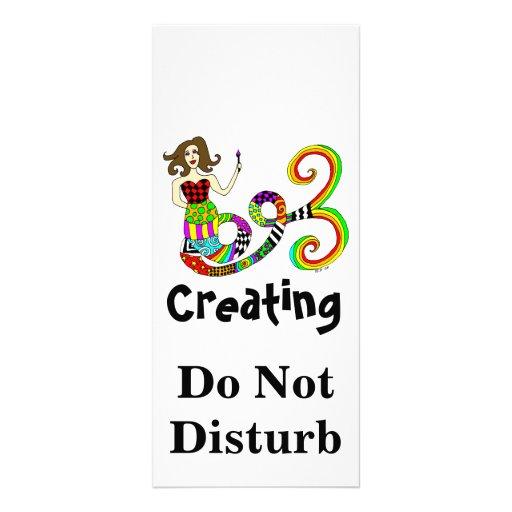 Creating Do Not Disturb Mermaid Muse Custom Rack Cards