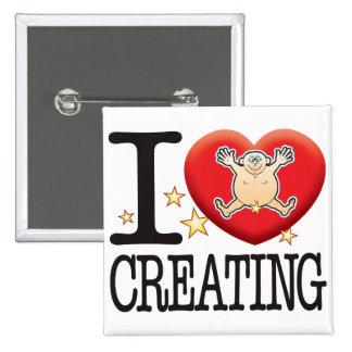 Creating Love Man 15 Cm Square Badge