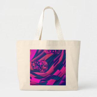 Creating Worlds – Abstract Fractal Magenta Magic Jumbo Tote Bag