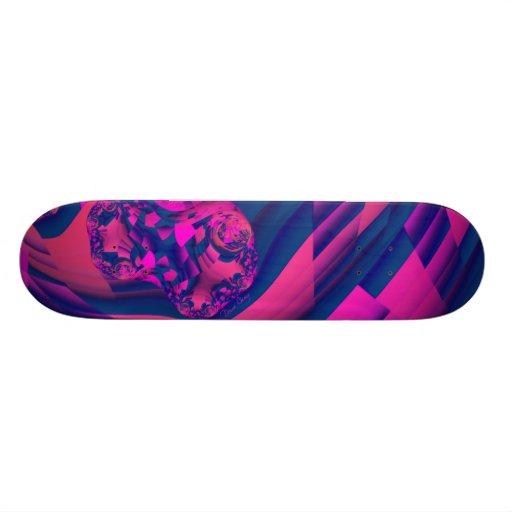 Creating Worlds – Abstract Fractal Magenta Magic Skate Board
