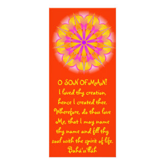 Creation Hidden Words Quote Customized Rack Card