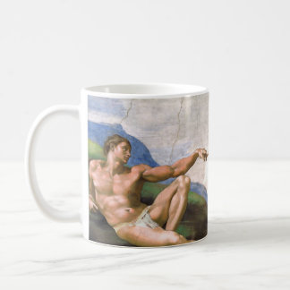 Creation of Adam by Michelangelo Basic White Mug
