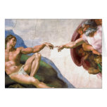 Creation of Adam by Michelangelo Cards