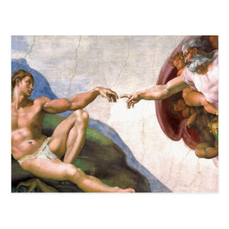 Creation of Adam by Michelangelo Postcard