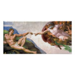 Creation of Adam by Michelangelo Poster