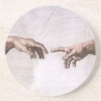 Creation of Adam (detail-hands) Coaster