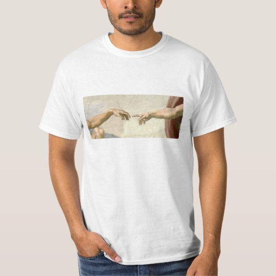 Creation of Adam Hands - Michelangelo T-Shirt