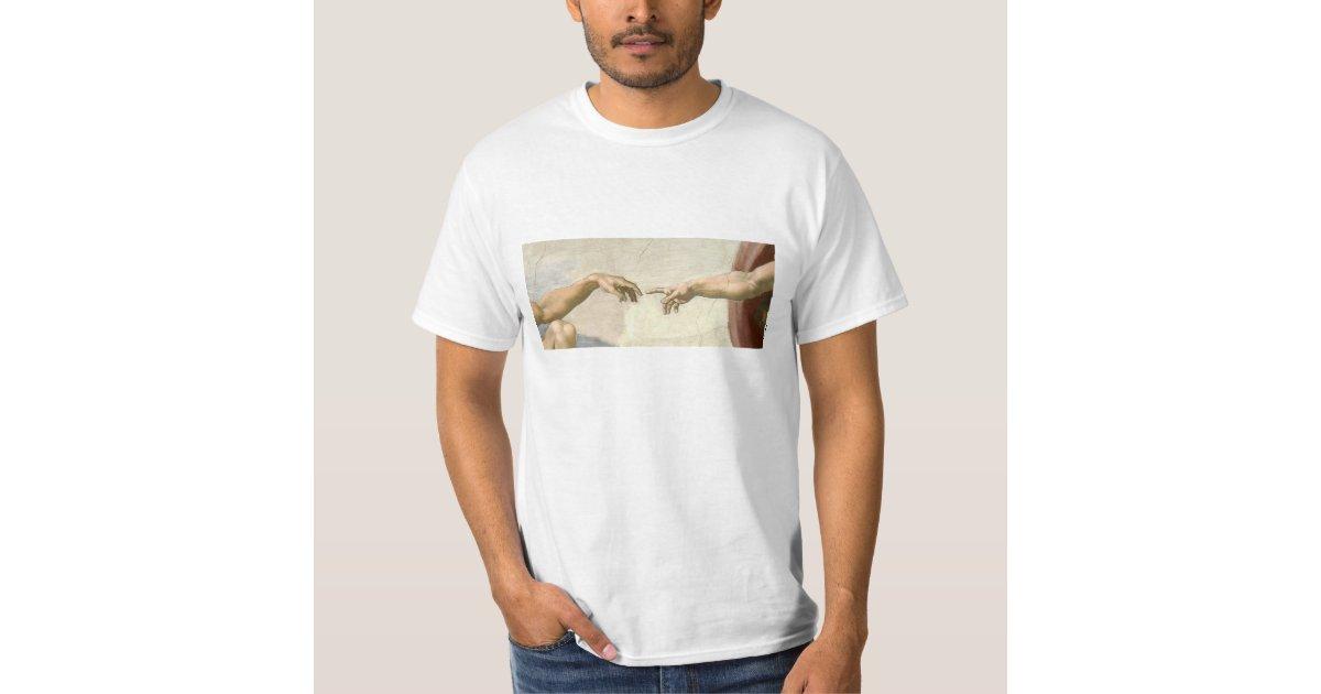 8e4be56b Creation of Adam Hands - Michelangelo T-Shirt | Zazzle.co.uk