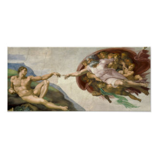 Creation of Adam - Painted by Michelangelo Poster
